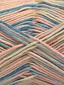 Fiber Content 100% Acrylic, Light Pink, Brand ICE, Cream, Blue Shades, Yarn Thickness 2 Fine  Sport, Baby, fnt2-57366