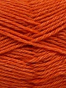 Fiber Content 65% Merino Wool, 35% Silk, Orange, Brand Ice Yarns, Yarn Thickness 3 Light DK, Light, Worsted, fnt2-57678