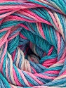 Fiber Content 100% Acrylic, Turquoise Shades, Pink Shades, Brand ICE, Yarn Thickness 3 Light  DK, Light, Worsted, fnt2-57747