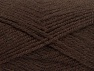 Fiber Content 50% Wool, 50% Acrylic, Brand ICE, Dark Brown, Yarn Thickness 4 Medium  Worsted, Afghan, Aran, fnt2-58182
