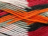 Fiber Content 80% Acrylic, 20% Polyamide, White, Orange, Light Grey, Brand ICE, Burgundy, Black, Yarn Thickness 4 Medium  Worsted, Afghan, Aran, fnt2-58994