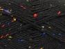 Fiber Content 95% Acrylic, 5% Viscose, Rainbow, Brand ICE, Black, Yarn Thickness 4 Medium  Worsted, Afghan, Aran, fnt2-59761