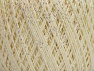 Fiber Content 75% Viscose, 25% Metallic Lurex, Pearl, Brand ICE, Cream, Yarn Thickness 2 Fine  Sport, Baby, fnt2-59796