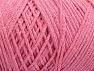 Fiber Content 100% Cotton, Light Pink, Brand ICE, Yarn Thickness 4 Medium  Worsted, Afghan, Aran, fnt2-60158