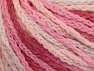 Fiber Content 50% Polyamide, 50% Acrylic, White, Pink Shades, Brand ICE, Yarn Thickness 4 Medium  Worsted, Afghan, Aran, fnt2-60360