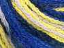Fiber Content 50% Polyamide, 50% Acrylic, Yellow, White, Brand ICE, Blue Shades, Yarn Thickness 4 Medium  Worsted, Afghan, Aran, fnt2-60363