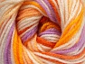 Fiber Content 100% Premium Acrylic, White, Orange Shades, Lilac, Brand ICE, Yarn Thickness 3 Light  DK, Light, Worsted, fnt2-60880