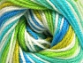 Fiber Content 100% Premium Acrylic, White, Turquoise, Brand ICE, Green Shades, Blue, Yarn Thickness 3 Light  DK, Light, Worsted, fnt2-60881