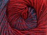 Fiber Content 75% Premium Acrylic, 25% Wool, Red, Brand ICE, Blue, Yarn Thickness 4 Medium  Worsted, Afghan, Aran, fnt2-61021