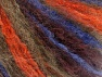 Fiber Content 45% Acrylic, 25% Wool, 20% Mohair, 10% Polyamide, Orange, Maroon, Brand ICE, Brown, Blue, fnt2-62645