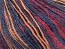 Fiber Content 40% Acrylic, 35% Wool, 25% Alpaca, Jeans Blue, Brand ICE, Cream, Burgundy, fnt2-63032