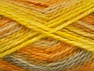 SuperBulky  Contenido de fibra 70% Acrílico, 30% Angora, Yellow, Light Grey, Brand ICE, Gold, fnt2-63143