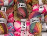 Self-Striping Yarns This mixed lot includes a total of 2000 gr (70.5 oz.) unlabeled yarn. There is no standard for ball weight. You will get what you see in the photo. Brand ICE, fnt2-64077