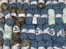 Fancy Yarns This mixed lot includes a total of 2000 gr (70.5 oz.) yarn. There is no standard for ball weight. Also disregard any information on the labels. You will get what you see in the photo. Brand ICE, fnt2-64105