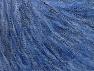 Περιεχόμενο ίνας 30% Ακρυλικό, 30% Πολυεστέρας, 25% Μαλλί, 15% Μεταλλικό lurex, Jeans Blue, Brand ICE, fnt2-64182