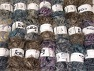 Eyelash Blends This mixed lot includes a total of 2000 gr (70.5 oz.) yarn. There is no standard for ball weight. Also disregard any information on the labels. You will get what you see in the photo. Brand ICE, fnt2-64320