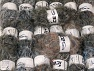 Eyelash Blends This mixed lot includes a total of 2000 gr (70.5 oz.) yarn. There is no standard for ball weight. Also disregard any information on the labels. You will get what you see in the photo. Brand ICE, fnt2-64347