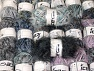 Eyelash Blends This mixed lot includes a total of 2000 gr (70.5 oz.) yarn. There is no standard for ball weight. Also disregard any information on the labels. You will get what you see in the photo. Brand ICE, fnt2-64356