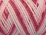 Fiber Content 50% Polyamide, 50% Acrylic, White, Pink Shades, Brand ICE, fnt2-64478