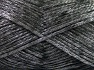 Fiber Content 70% Polyamide, 19% Wool, 11% Acrylic, Silver, Brand Ice Yarns, Black, fnt2-64570