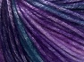 Fiber Content 56% Polyester, 44% Acrylic, Turquoise, Purple Shades, Brand Ice Yarns, Yarn Thickness 4 Medium Worsted, Afghan, Aran, fnt2-64623