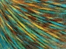 Fiber Content 85% Acrylic, 15% Wool, Yellow, Turquoise, Brand Ice Yarns, Brown, fnt2-65128