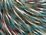 Fiber Content 30% Wool, 30% Acrylic, 20% Polyamide, 20% Mohair, White, Turquoise, Olive Green, Brand Ice Yarns, Burgundy, fnt2-65163