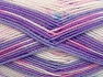 Fiber Content 65% Premium Acrylic, 35% Polyamide, White, Pink, Lilac Shades, Brand Ice Yarns, Blue, fnt2-65206