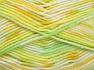 Fiberinnehåll 65% Premium akryl, 35% Polyamid, Yellow, White, Brand Ice Yarns, Green Shades, fnt2-65208