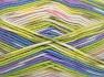 Περιεχόμενο ίνας 65% Πριμοδότηση ακρυλικό, 35% Πολυαμίδη, White, Pink, Lilac, Brand Ice Yarns, Green Shades, fnt2-65209