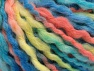 Fiber Content 60% Acrylic, 30% Wool, 10% Mohair, Turquoise, Salmon, Light Yellow, Brand Ice Yarns, Blue, fnt2-65260