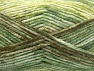Fiber Content 50% Premium Acrylic, 50% Wool, Brand Ice Yarns, Green Shades, Brown, fnt2-65285