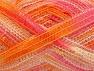 Fiberinnehåll 50% Ull, 37% Polyamid, 13% metalliskt Lurex, Pink, Orange Shades, Brand Ice Yarns, fnt2-65306