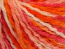 Wool  Fiber Content 60% Wool, 40% Acrylic, White, Pink, Orange, Light Salmon, Brand Ice Yarns, fnt2-65360