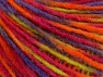 Fiber Content 50% Acrylic, 50% Wool, Red, Purple, Orange, Light Green, Brand Ice Yarns, fnt2-65362