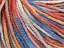 Fiber Content 60% Viscose, 20% Polyamide, 10% Wool, Orange, Lavender, Brand Ice Yarns, Cream, Copper, Blue, fnt2-65431