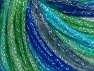 Fiber Content 40% Acrylic, 30% Metallic Lurex, 30% Wool, Brand Ice Yarns, Green Shades, Blue Shades, fnt2-65602