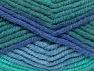 Περιεχόμενο ίνας 50% Μαλλί, 50% Ακρυλικό, Brand Ice Yarns, Green Shades, Blue Shades, fnt2-65640