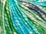 Fiber Content 77% Cotton, 23% Acrylic, Turquoise, Navy, Brand Ice Yarns, Green, Cream, Yarn Thickness 4 Medium  Worsted, Afghan, Aran, fnt2-65705