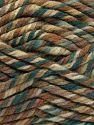Fiberinnehåll 75% Akryl, 25% Superwash ull, Brand Ice Yarns, Green Shades, Brown Shades, fnt2-65760