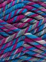 Fiberinnehåll 75% Akryl, 25% Superwash ull, Brand Ice Yarns, Fuchsia, Blue Shades, fnt2-65762