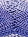Fiber Content 100% Mercerised Cotton, Lilac Shades, Brand Ice Yarns, fnt2-65793