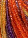 Fiber Content 40% Acrylic, 30% Wool, 30% Metallic Lurex, Purple, Orange, Olive Green, Brand Ice Yarns, Burgundy, Yarn Thickness 4 Medium Worsted, Afghan, Aran, fnt2-65916