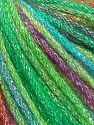 Fiber Content 40% Acrylic, 30% Wool, 30% Metallic Lurex, Turquoise, Purple, Brand Ice Yarns, Green Shades, Fuchsia, Yarn Thickness 4 Medium Worsted, Afghan, Aran, fnt2-65933
