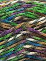 Contenido de fibra 75% Acrílico Premium, 25% Lana, Turquoise, Purple, Brand Ice Yarns, Green, Brown Shades, Yarn Thickness 5 Bulky Chunky, Craft, Rug, fnt2-67188