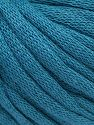 This is a tube-like yarn with soft cotton fleece filled inside. Fiber Content 70% Cotton, 30% Polyester, Brand Ice Yarns, Dark Teal, Yarn Thickness 5 Bulky Chunky, Craft, Rug, fnt2-67307
