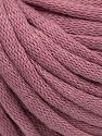 This is a tube-like yarn with soft cotton fleece filled inside. Fiber Content 70% Cotton, 30% Polyester, Orchid, Brand Ice Yarns, Yarn Thickness 5 Bulky Chunky, Craft, Rug, fnt2-67313