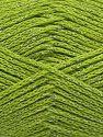 Fiber Content 88% Cotton, 12% Metallic Lurex, Pistachio Green, Brand Ice Yarns, fnt2-67841