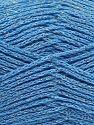 Fiber Content 88% Cotton, 12% Metallic Lurex, Light Blue, Brand Ice Yarns, fnt2-67843