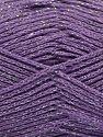 Fiber Content 88% Cotton, 12% Metallic Lurex, Lilac, Brand Ice Yarns, fnt2-67844